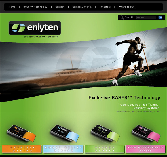 Enlyten Strips Website