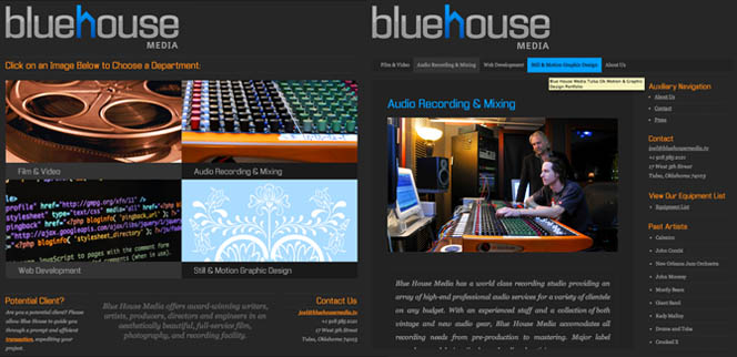 Blue House Media Tulsa Video Production Website Design