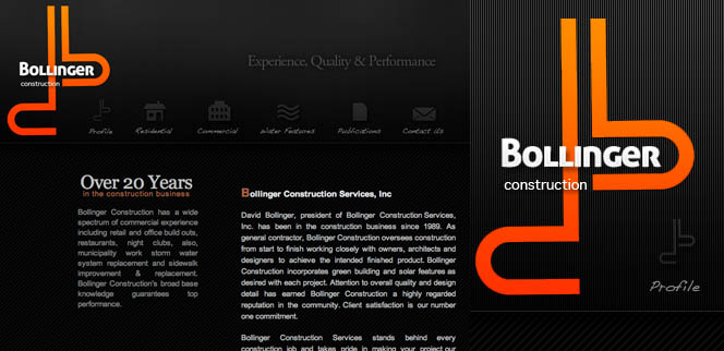 Bollinger Construction Website Design