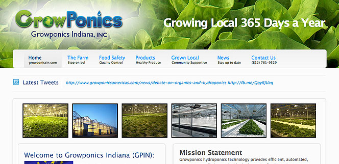 Growponics Indiana Hydroponic Greenhouses