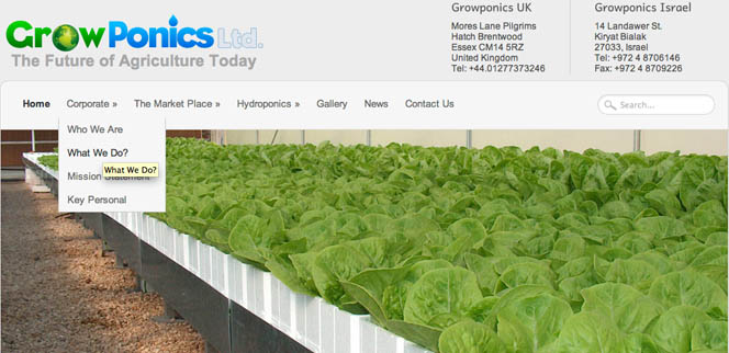 Growponics UK LTD Web Design