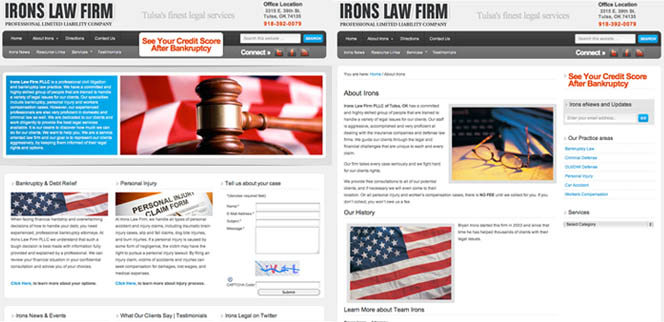 Irons Law Tulsa Attorney Oklahoma Web Design