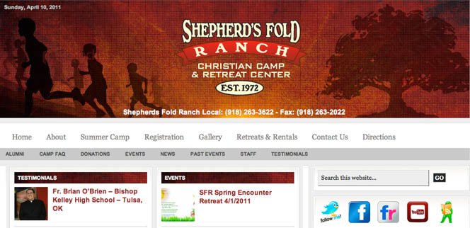Shepherds Fold Ranch Oklahoma Web Design