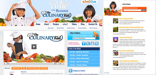 Cook Time with Remmi the Culinary Kid Tulsa Web Design