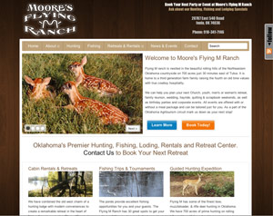 Moore's Flying M Ranch Oklahoma Website Design by Internet Happens